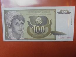 YOUGOSLAVIE 100 DINARA 1991 PEU CIRCULER/NEUF - Yougoslavie