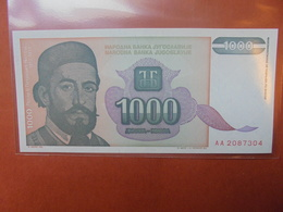 YOUGOSLAVIE 1000 DINARA 1994 PEU CIRCULER/NEUF - Yougoslavie