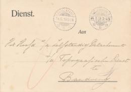 Nederlands Indië - 1919 - Dienst Briefkaart Van LB RADJAMANDALA Via LB Padalarang Naar Bandoeng - Nederlands-Indië