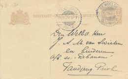 Nederlands Indië - 1924 - 7,5 Cent Cijfer, Briefkaart G29 Van LB REWOELOE Naar LB Tandjongpriok - Nederlands-Indië