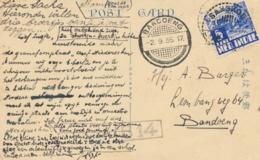 Nederlands Indië - 1935 - 5 Cent Karbouwen Op Ansicht Van LB SANGKOELIRANG Naar Bandoeng - Nederlands-Indië
