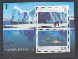 Australia 1990 Antarctica / Joint Issue With USSR M/s ** Mnh (44271) - Territorio Antártico Australiano (AAT)