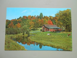 ETATS UNIS NH NEW HAMPSHIRE NEW ENGLAND FARM LANDS IN EARLY AUTUMN - Andere