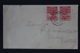 BASUTOLAND Cover CDS QACHASNEK (PROUD D6) 1934 To MAPFONTEIN  MATABIELE SOUTH AFRICA - 1933-1964 Crown Colony