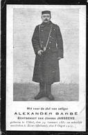 Barbé Alexander (gesneuveld - Ukkel 1884 -zeist 1915) - Religion & Esotérisme