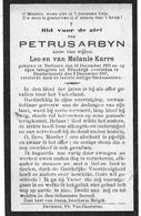 Arbyn Petrus  (gesneuveld -berlare 1893 -dendermonde 1917) - Religione & Esoterismo