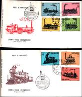 13107A)F.D.C. SAN MARINO Storia Della Locomotiva - 29 Agosto 64 - FDC