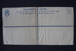 BRITISH BECHUANALAND  Registered Letter 4 D On 2 D  Unused 292*152 Mm HG 4d Vert Fold - 1885-1895 Kronenkolonie