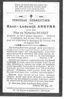 Ardyns K.l. (gesneuveld -zottegem1894 -budingen 1914) - Religion &  Esoterik