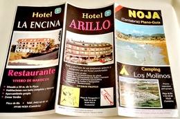 Brochure Touristique De Noja, Cantabrie, Plano - Guide / Camping Los Molinos Et Hotel Arillo - Folletos Turísticos