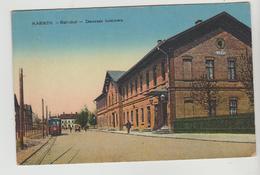 CPA DREZDENKO (Pologne) - KARWIN Bahnhof : Dworzec Kolejowy - Pologne