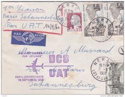 Correspondance    Par AVION      Réf-JP-W-262 (  Année 1960 Paris-Johannesbourg  ) - Altri