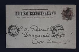 BRITISH BECHUANALAND  Postcard Used + Unused HG P4 1894 Cancel 555 Vryburg + CDS -> Cape Town - 1885-1895 Kronenkolonie