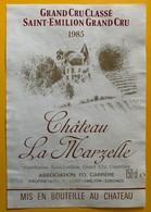 11434 - Château La Marzelle 1985 Saint Emilion - Bordeaux