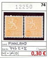Finnland - Finland - Suomi - Finlande - Michel 746 I+II - ** Mnh Neuf Postfris - - Ungebraucht