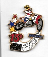Superbe  Pin's  Sport  MOTO, 13 è  SUPERCROSS  PHILISHAVE  à  BERCY 10-11-12  NOVEMBRE 1995  Avec  MOTO REVUE - Motos