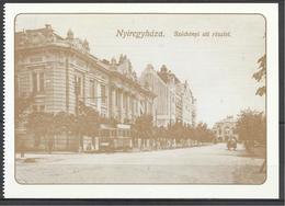 Hungary, Nyiregyhaza, Séchényi Street With A Tram, Around 1910, Reprint. - Hongrie