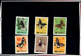 6749B) FORMOSA- INSETTI E FARFALLE DIVERSE-N.249-54-MNH** - 1945-... République De Chine
