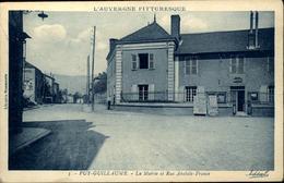 63  PUY GUILLAUME  La Mairie Et Rue Anatole - France - Autres Communes