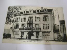C.P.A.- Vittel (88) - Café Restaurant Hôtel De Paris - 1915 - SUP (CJ 94) - Vittel Contrexeville