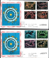 13105A)F.D.C. SAN MARINO Segni Zodiacali - 18 Febbraio 1970 - FDC