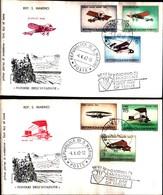 13104A)F.D.C. SAN MARINO   Storia Dell'aeroplano - 4 Aprile 1962 - FDC