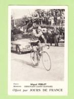 Miguel POBLET - Geminiani Saint Raphaël - Photo Keystone - Equipe IGNIS -  2 Scans - Cycling