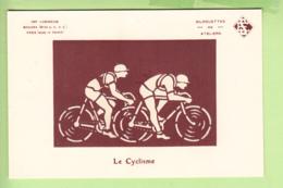 Le CYCLISME - Contre La Lumière - Silhouettes Lumineuses -  2 Scans - Tegenlichtkaarten, Hold To Light