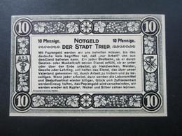 Notgeld Stadt Trier 1920 Und 21 2 Scheine Top Zustand! - [11] Local Banknote Issues