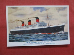 Cunard Line  RMS Queen Mary  >  Ref    3561 - Steamers
