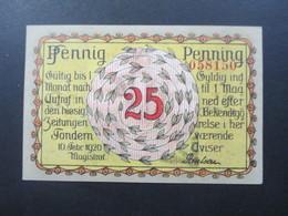 Notgeld Stadt Plebiscit Oberschlesien 1920 Guter Zustand! 25 Pfennig. Slesvig / Tondern - [11] Emisiones Locales