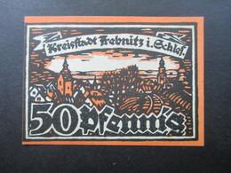 Notgeld Kreisstadt Trebnitz In Schlesien 50 Pfennig 1920 Top Zustand - Lokale Ausgaben