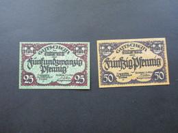 Notgeld Stadtgemeinde Triebes 25 Und 50 Pfennig 1920 Top Zustand - Lokale Ausgaben