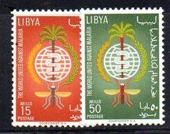APR2312 - LIBIA LYBIA 1962 , Serie Yvert  N. 207/208 ***  MNH  Malaria - Libia