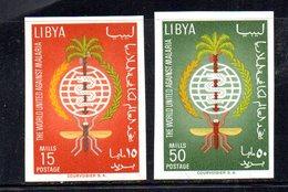 APR2313 - LIBIA LYBIA 1962 , Serie Yvert  N. 207/208 ***  MNH  Malaria NON Dentellata - Libia