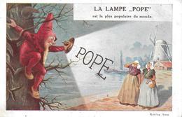 Lampen Pope - Publicité