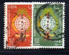 APR2314 - LIBIA LYBIA 1962 , Serie Yvert  N. 207/208 Usata  Malaria - Libia
