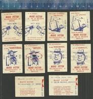 TIMBRE TINTIN KUIFJE'S BON Maison MAHO VICTOR KUIFJE TINTIM Matchbox Labels On White (or Cream) Paper - Boites D'allumettes - Etiquettes