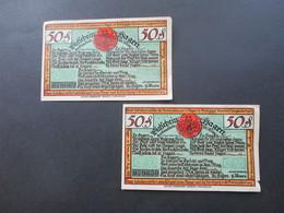 Notgeld Stadt Gemeinde Hagen 1921 2 Scheine Mit Gebrauchsspuren!!! - Lokale Ausgaben