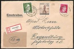 R-Brief 1944 Von GÜTERSLOH Nach REGENSBURG Mit Mi 886-788-794 - Alemania