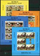 Soccer Football Antigua Barbuda KB 659/62 1982 World Cup Spain MNH ** - World Cup
