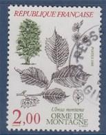 = Flore Et Faune Arbres:Orme De Montagne, 2f00 N°2385 Oblitéré - France
