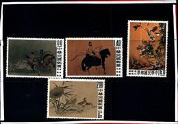 6755B) FORMOSA-QUADRI CELEBRI DELL'ANTICA CINA-N. 327-30-MNH** - 1945-... Republik China