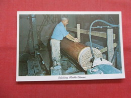 Polishing Marble Column  Vermont Marble Co  Proctor VT  Ref    3561 - Industry