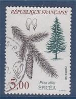 = Flore Et Faune Arbres: Epicéa, 5f00 N°2387 Oblitéré - France