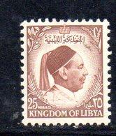 APR2320 - LIBIA LYBIA 1952 ,  Yvert  N. 133  Nuovo *  Linguella (2380A) El Senoussi - Libia