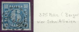 Bayern, Mi.-Nr.10ao, Mit 4 Schnittlinien ,,pracht - Beieren