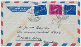 Portogerechte Mischfrankatur Auf Luftpostbrief Gelaufen - BERN - BUENOS AIRES - Cartas