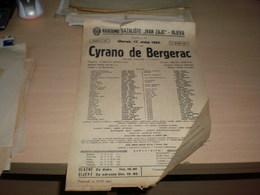Old Poster Plakat Theater Narodno Kazaliste Ivan Zajc Rijeka Cyrano De Bergerac Edmond Rostand 1955 - Posters