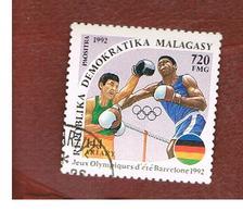 MADAGASCAR -  SG 943 - 1992  OLYMPIC GAMES: BOXING     -  USED° - Madagascar (1960-...)